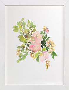 Flora in Peach II by Yao Cheng at minted.com