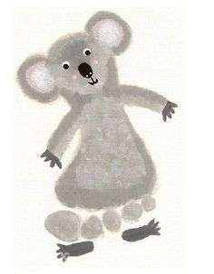 footprint craft, k is for koala-for Tenley (forgiveness- walk in your neighbors shoes Daycare Crafts, Crafts For Boys, Baby Crafts, Art For Kids, Arts And Crafts, Daycare Rooms, Kid Crafts, Toddler Art, Toddler Crafts