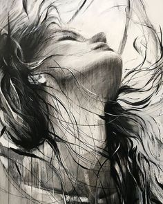 Ewa Hauton Öl auf Leinwand Ewa Hauton oil on canvas - Drawing Techniques Pencil Art Drawings, Art Drawings Sketches, Charcoal Art, Charcoal Drawing, Portrait Art, Face Art, Erotic Art, Art Pictures, Painting & Drawing