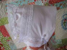 Vicki's Fabric Creations: Heirloom Hankie -Bonnet Tutorial and Sneak Peek of New Quilt