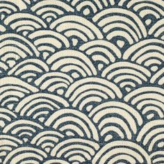 Fabric - Rainbow Ld Evening Blue Dots/Circles Medallion/Tile Fabric Pattern
