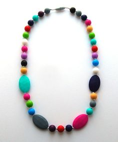 This Neon Amelia Teething Necklace - Women by Droolery by emmi & olive is perfect! #zulilyfinds