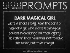 This prompt - Dark Magical Girl - could be interesting.