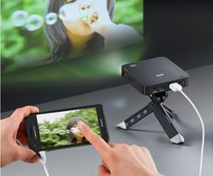 Portable Rechargeable Smartphone Projector Offers Ultimate Portability #iPhone