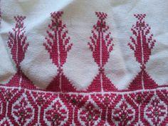 Palestinian embroidery pattern _ تطريز فلسطيني Diy Embroidery, Embroidery Patterns, Cross Stitch Designs, Cross Stitch Patterns, Palestinian Embroidery, Geometric Patterns, Palestine, Cross Stitching, Stitches