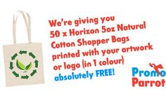 Spend over £500 on promotional products and receive 50 FREE Horizon Tote Bags, printed with 1 colour. Hurry this offer is only available until the 31/01/2015!!