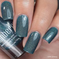 The gorgoeusness of this color #tealtheshowjn is kind of beyond words.  If you loved our #showtimejn that sold out in record time :) better get ready for this beauty!  I will be hooking up the #nailbestiesVIP and #blackfridayblockparty ladies with free shipping so please click the link in my bio to be added to the party on #facebook :D  #fun #games #deals #prizes and of course they get to see all the #exclusives before anyone else :) Come hang with us :D #nailfie #nailswag #holomanicure…