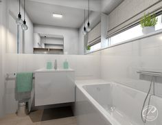 Projekt domu na Wawrze    bathroom modern design Progetti Architektura