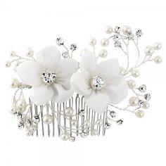 SassB Vivian Floral Wedding Hair Comb