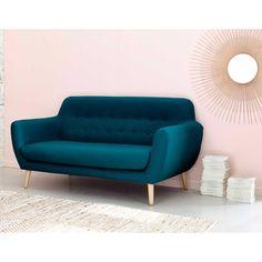 seater fabric vintage sofa in petrol blue Iceberg Mid Century Modern Living Room Furniture, Seater Sofa, Sofa Scandinavian Style, Sofa, Modern Sofa Living Room, Vintage Sofa, Home Decor, Living Room Sofa Design, Sofa Colors