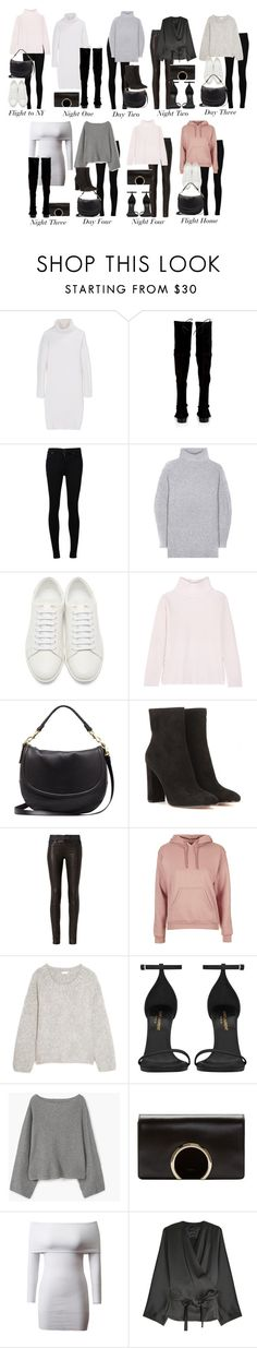 """""""Outfits for Five Days in New York"""" by elenaday ❤ liked on Polyvore featuring DKNY, Stuart Weitzman, Citizens of Humanity, Acne Studios, Yves Saint Laurent, Allude, Mulberry, Gianvito Rossi, rag & bone and Topshop"""