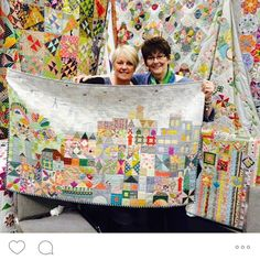 """To give everyone an idea how big the quilt is and also the colors. I think they used a filter on the picture of the quilt in the magazine, distorting the """"true"""" color and making it harder to duplicate that same look. SWOON#mysmallworldqal"""