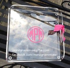 Our Preppy Tray for outside entertaining!