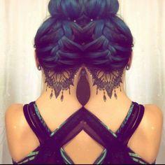 Hairline cut tattoo