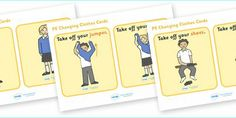 Preview: PE Changing Clothes Cards