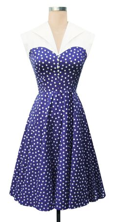 Dixie Dress | Lucy Dots | 50's Style Summer Dress | Trashy Diva...why dont i find something like this in stores