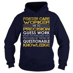 Foster Care Worker - Job Title #hoodie drawing #sweatshirt men. LOWEST SHIPPING:  => https://www.sunfrog.com/Jobs/Foster-Care-Worker--Job-Title-Navy-Blue-Hoodie.html?68278