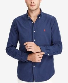 d1f1865cb44 Polo Ralph Lauren Men s Big   Tall Classic-Fit Sport Shirt Men - Casual  Button-Down Shirts - Macy s