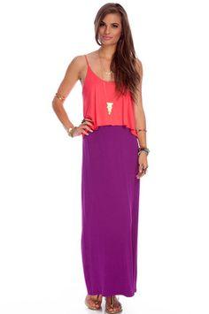 Easy Breezy Maxi Dress in Coral  $30 at www.tobi.com