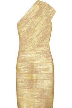 Gold Bandage Dress - NOW REDUCED - £35.00 + FREE DELIVERY sizes XS and L left