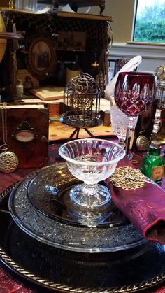 Steampunk Table Setting