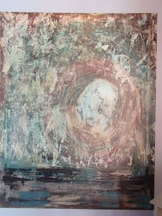 Snowfall Abstract Textured   Painting by BlissStudio28 on Etsy