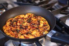 How to Make Kimchi Pancakes #LowCarb #GlutenFree #Savory It's those savory caramelized bits of kimchi that make this pancake so irresistible.