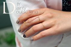 DIY Dainty Double Ring