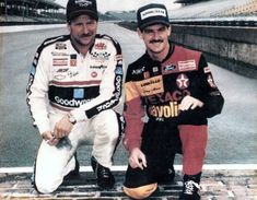 Dale Earnhardt and Davey Allison, Indianapolis Motor Speedway Tire Test, The Intimidator, Nascar Race Cars, Indy Cars, Racing News, Auto Racing, Dirt Racing, Automobile, Dale Earnhardt Jr, Taylor Earnhardt