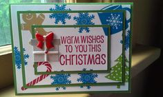 Triple Layer Christmas Card by StampingChamorrita on Etsy, $4.50