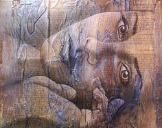 ''A dor de um silêncio'': Painting by Carrie Vielle