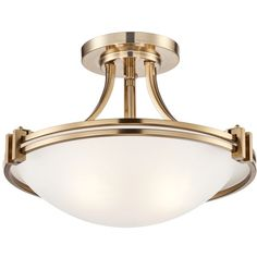 "Possini Euro Deco 16"" Wide Warm Brass Ceiling Light ($170) ❤ liked on Polyvore featuring home, lighting, ceiling lights, possini euro design, possini euro design lighting, polished brass lamps, european lamps and brass hanging lights"