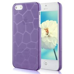 Water Cube Design Crystal Hard Case For iPhone 5 - Purple