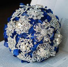 Idea for making a brooch bouquet
