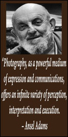 Another great Ansel Adams quote Quotes About Photography, Photography Challenge, Artistic Photography, Love Photography, Black And White Photography, Myrtle Beach Photographers, Great Photographers, Landscape Photographers, Ansel Adams Quotes