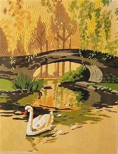 Sunset Designs Wool Crewel Embroidery Kit A Time To Reflect 2453 Swans Rienstra | Crafts, Needlecrafts & Yarn, Embroidery & Cross Stitch | eBay!