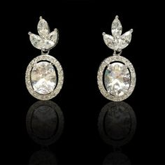 I shopped at Bridalorium for my jewelry, they were fantastic! Leaf Earrings, Diamond Earrings, Bridal Jewellery, Jewelry, Crystals, Jewellery Making, Jewels, Jewlery, Jewerly