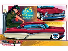Jeff Norwell Illustrates a '55 Plymouth Belvedere