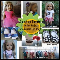 8 No Sew Projects for American Girl Dolls