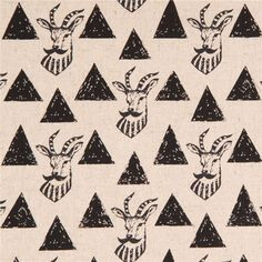 http://www.kawaiifabric.com/en/p8089-echino-natural-color-canvas-fabric-black-triangle-antelope-from-Japan.html