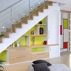 Breathtaking 9 Awesome Under Staircase Space Ideas To Maximize Your Home Under Space Staircase is a very good idea for you to apply to space under the stairs of your home. for storage, purposes are quite common, especially . Staircase Storage, Staircase Railings, Stair Storage, Staircase Design, Stairways, Spiral Staircases, Space Under Stairs, Stair Decor, Modern Stairs