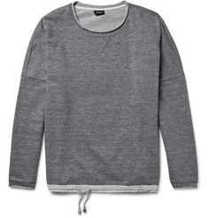 7e919102f82e99 Expertly made in Italy from loopback cotton-jersey, Helbers  mélange  sweatshirt is a