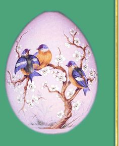 Russian Imperial Easter Eggs - Gallery of Eggs - Easter Egg with Flowers and Birds