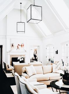 15 Interior Design Ideas to Spruce Up Your Large Living Room www. 15 Interior Design Ideas to Spruce Up Your Large Living Room www. Living Room Interior, Home Living Room, Living Room Furniture, Living Room Designs, Living Room Decor, Living Spaces, Furniture Layout, Furniture Ideas, Couch Furniture