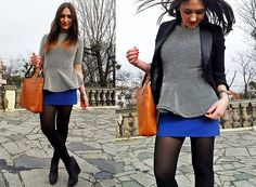 Blouse Tights and Skirt