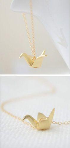 Origami Crane Necklace ♥