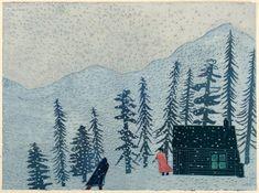 Tom Hammick Editions | Prints | 2014 Woodcuts | Minnie's Cabin E.V 3/10