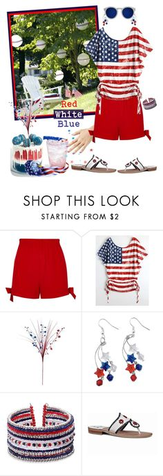 """""""Remember All those Who Gave to Build and Protect the USA!"""" by krusie ❤ liked on Polyvore featuring River Island and Illesteva"""