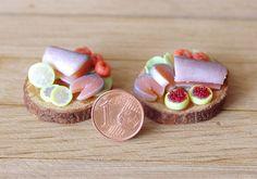 Culinary miniature fish salmon with lemon by Irinaminiatures
