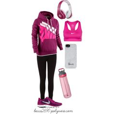 """Going for a run"" by becca2690 on Polyvore"